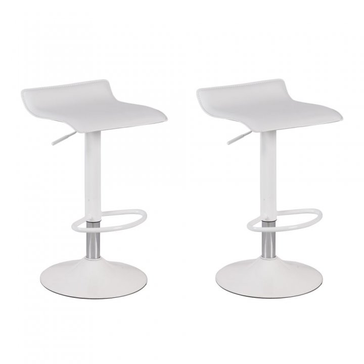Set van 2 Calais Barkrukken White Collection