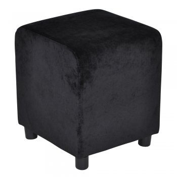 Block Pure Black Velvet 39x39cm